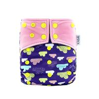 Clouds Design Bamboo Charcoal Cloth Nappy