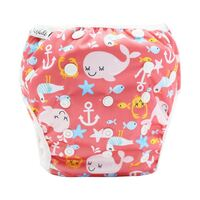 Reusable Swim Nappy - Pink Whales