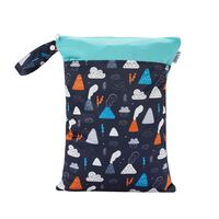 Waterproof Double Zip Wet Bag Volcanoes 30x40cm - Medium