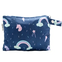 Small Waterproof Wet Bag with Zip 19 x 16cm - Unicorn Design