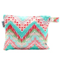 Small Waterproof Wet Bag with Zip 19 x 16cm - Bohemian Design