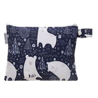 Small Waterproof Wet Bag with Zip 19 x 16cm - Sleepy Bear Design