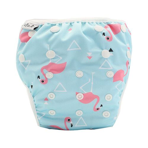Reusable Swim Nappy - Flamingo