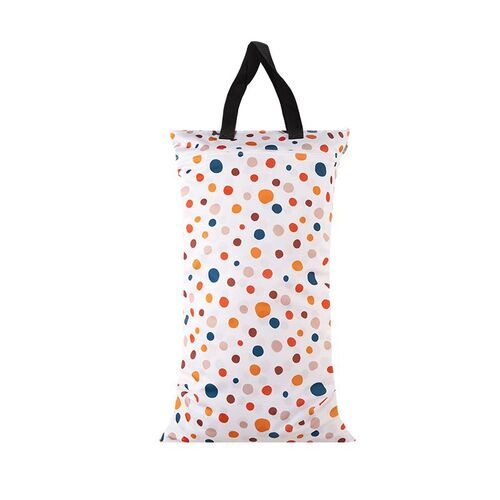 Waterproof Double Zip Large Wet Bag Polka Dots 40x70cm