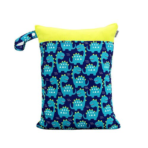 Waterproof Double Zip Wet Bag Baby Dinosaur 30x40cm