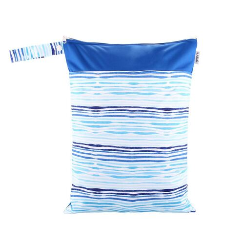 Waterproof Double Zip Wet Bag Blue Waves 30x40cm