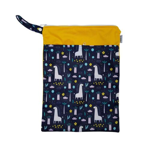 Waterproof Double Zip Wet Bag Giraffes 30x40cm - Medium